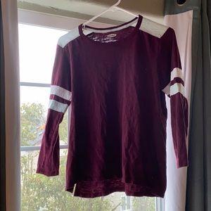 Long Sleeve Shirt Maroon